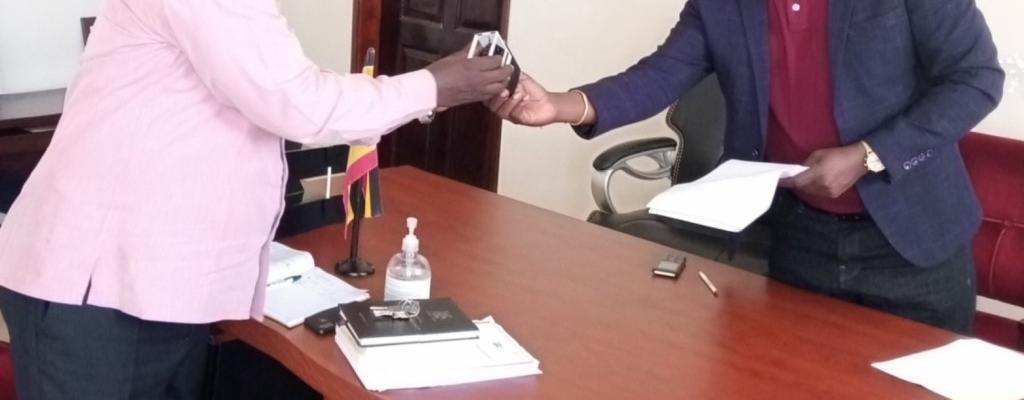 OUT GOING CHAIRPERSON HANDS OVER OFFICE ASSETS